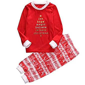 EGELEXY Christmas Family Matching Pajamas Sleepwear Sets for the Family XAMS Gift Child 5