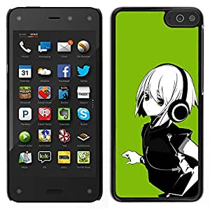 LECELL--Funda protectora / Cubierta / Piel For Amazon Fire Phone -- Verde Anime Girl --