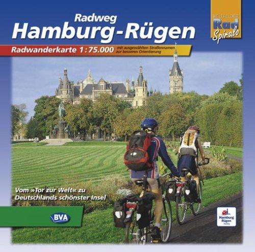 Hamburg - Rügen: Radwanderführer Maßstab 1:75000