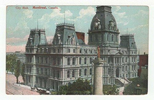 City Hall, Montreal, Quebec, Canada Vintage Original Postcard #3721 - July 18, 1909 (Hall Canada City)