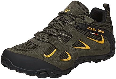 XIANG GUAN トレッキングシューズ メンズ 登山靴 大きいサイズ 通気性 耐磨耗 衝撃吸収 軽量 アウトドア スニーカー ハイキング シューズ