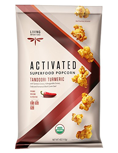 Living Intentions Superfood Popcorn, Tandoori Turmeric with Live Cultures, 113g