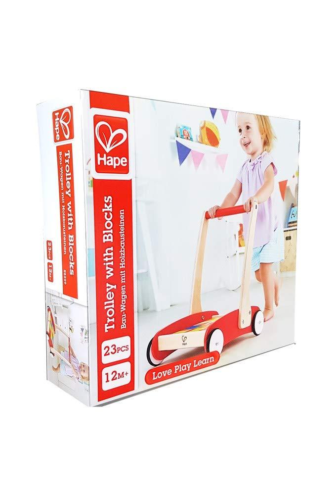 Hape- Andador Rojo con Bloques (E8259): Amazon.es: Juguetes y juegos