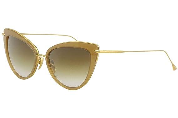 466eb10f634 Amazon.com  Dita Heartbreaker 22027C 22027-C BRN-GLD 18k Gold Brown Cateye  Sunglasses 56mm  Dita  Clothing