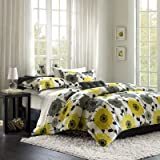 Anthea Big Flower Comforter Set Size: Full/Queen