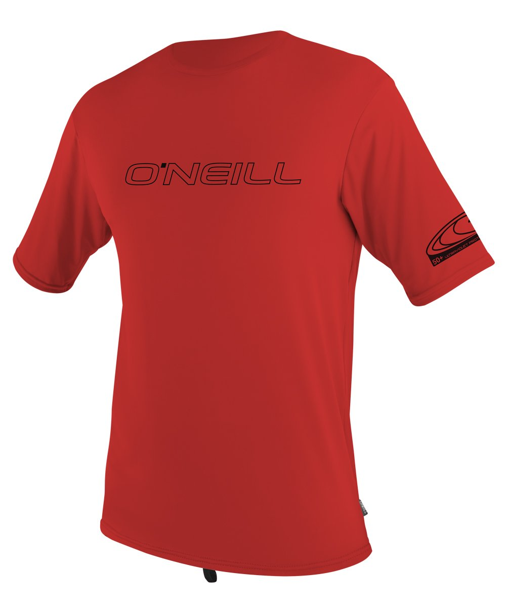 O'Neill Wetsuits UV Sun Protection Youth Basic Skins Short Sleeve Tee Rashguard  (Red, 14) by O'Neill Wetsuits