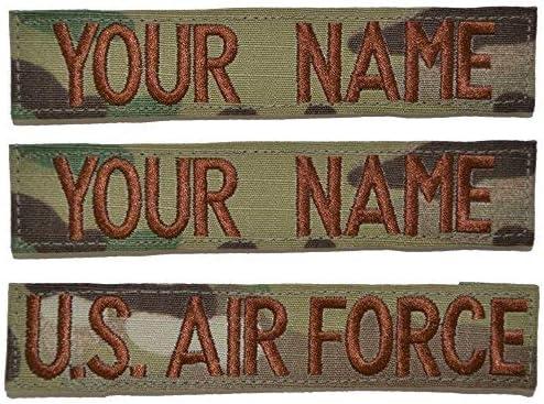 Custom 3 Piece USAF OCP/Scorpion Name Tape with Hook Fastener