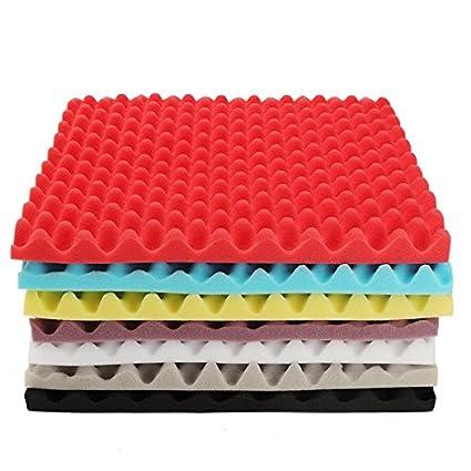 50x50x5.5cm Square Insulation Reduce Noise Sponge Foam Cotton Sound Treatment Studio Panels Sound Dampening Foam Sound Absorbing Foam Acoustic Foam Tiles Grey Soundproof Foam