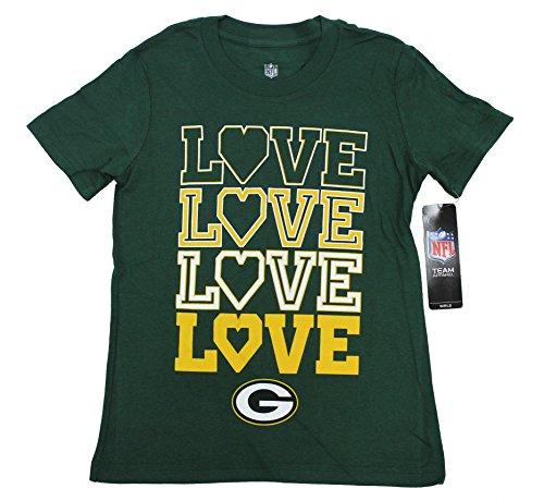 Team Apparel NFL Girl's Greenbay Packers Love Short Sleeve T Shirt