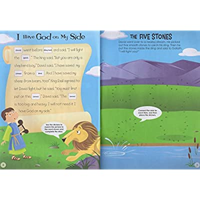 Big Book of Stickers - Story of David - Activity Book Includes Over 80 Stickers: Toys & Games