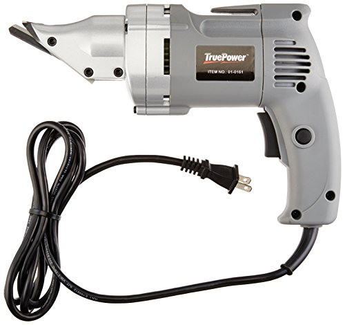(TruePower 01-0161 Heavy-Duty Electric Metal Shear with Swivel Head)