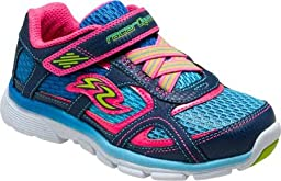 Stride Rite Girls\' Racer Lights Supersonic,Navy/Blue Leather/Mesh,US 2 M