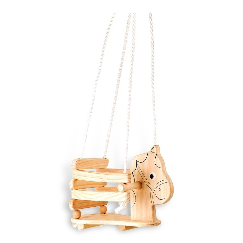 HC-Handel 935006 Kinderschaukel Pferd aus Holz 50 x 30 x 31 cm