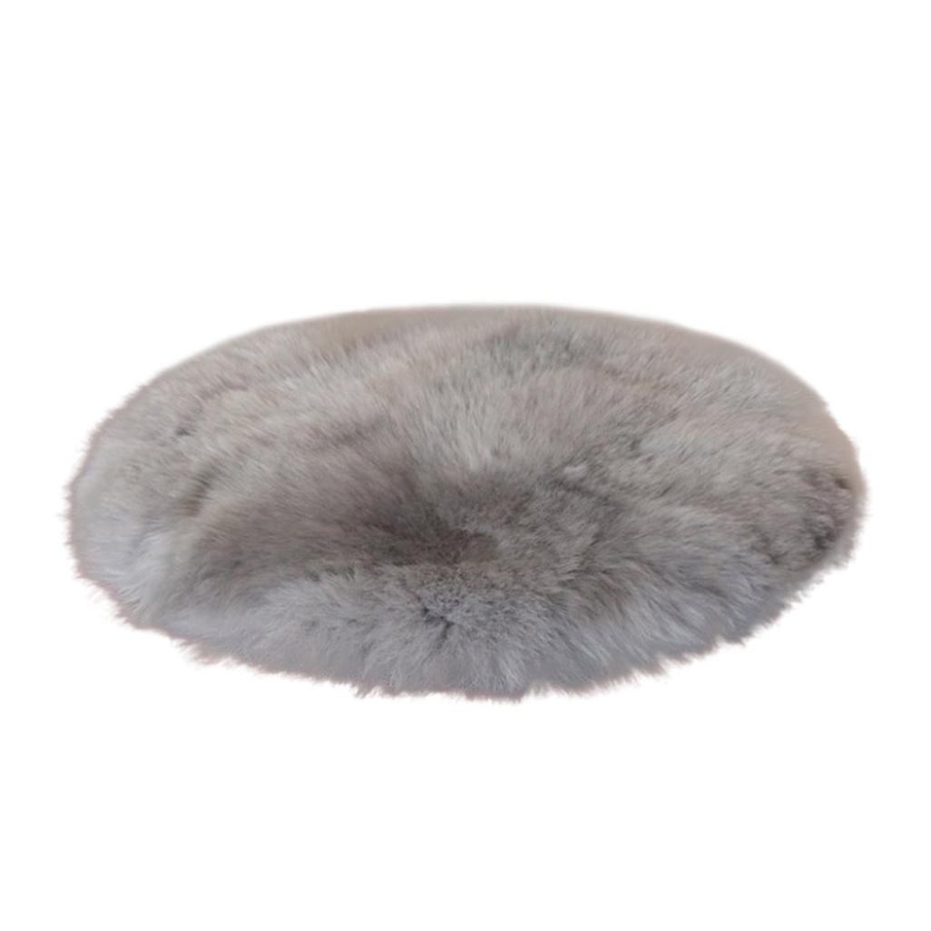 Super Area Rugs ,Morwind Soft Artificial Sheepskin Rug Chair Cover Artificial Wool Warm Hairy Carpet Seat Rug for Lounge Bed Floor Bathroom - Faux Sheepskin Rug - (Gray)