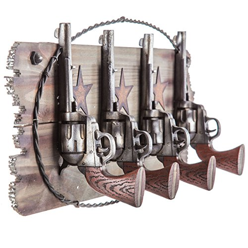 Pistol 4 Hooks Coat Hanger Rustic Western Country Decor Rustic Kitchen Hallway Storage Hook Towel Coat Hallway Jacket Hat Scarf Hook