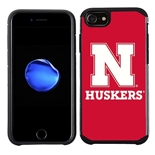 Prime Brands Group Textured Team Color Cell Phone Case for Apple iPhone 8/7/6S/6 - NCAA Licensed University of Nebraska Cornhuskers ()