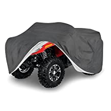 OxGord Signature ATV Cover - 100% Water-Proof 5 Layers - True Mastepiece - Ready-Fit / Semi Custom - Fits up to 77 inches