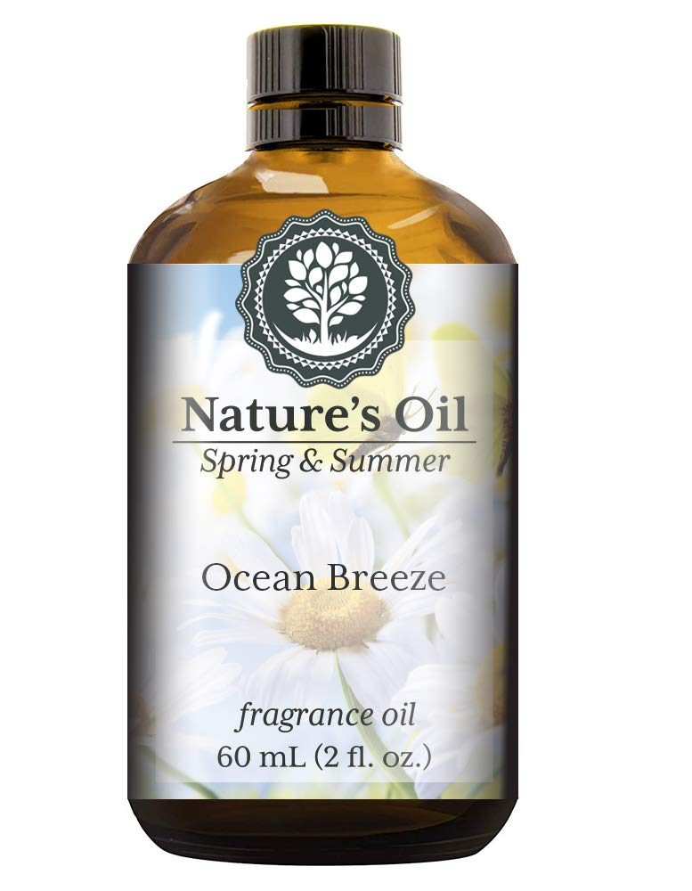 Ocean Breeze Fragrance Oil (60ml) For Diffusers, Soap Making, Candles, Lotion, Home Scents, Linen Spray, Bath Bombs, Slime