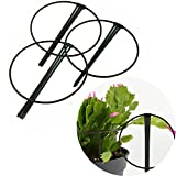 Zmmyr 3Pcs Plastic Garden Trellis Stakes Potted Scaffold Leaf Support Trellises Protecting Flowers Plants (Green)