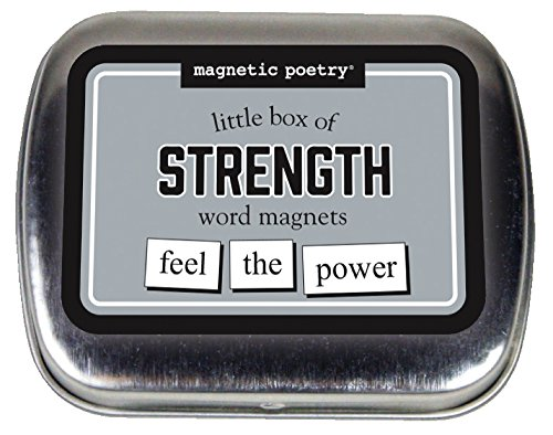 Magnetic Poetry - Little Box of Strength Kit - Words for Refrigerator - Write Poems and Letters on the Fridge - Made in the USA