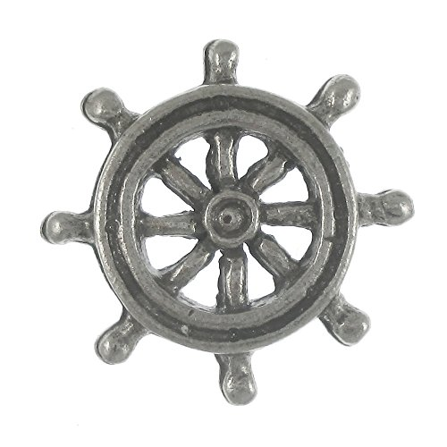 Jim Clift Design Ship's Wheel Lapel Pin - 1 Count