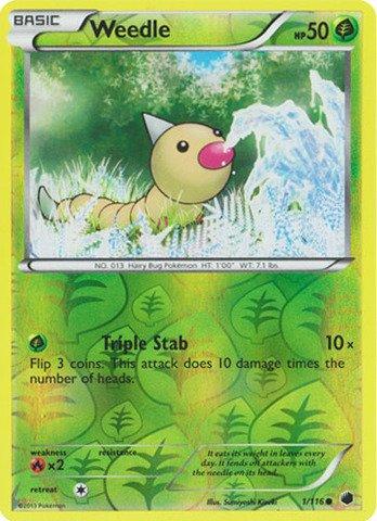 Pokemon - Weedle (1/116) - Plasma Freeze - Reverse Holo