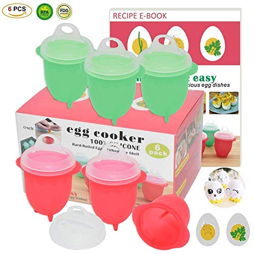 Microwave Egg Cooker-Silicone Egg Maker for Hard& Soft Boiled Eggs