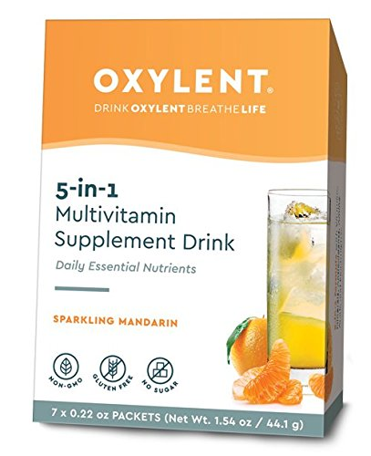 Oxylent, Sparkling Mandarin 7 Day Supply Box, 1.61 oz Review
