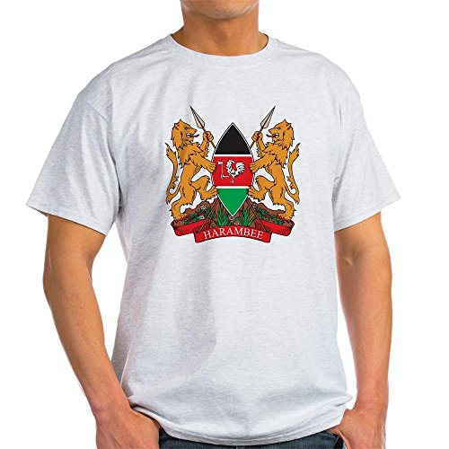 - CafePress Kenya Coat Of Arms Ash Grey T-Shirt - 100% Cotton T-Shirt