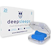 The Best Foam Earplugs for Sleeping by Deep Sleeps, 20 Pairs, 37dB, Expand Slowly for Easy Fitting