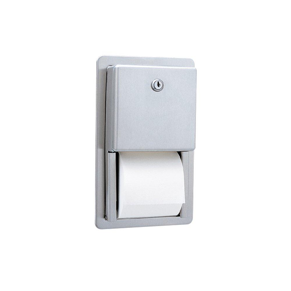 Bobrick B-3888 Classic Series Recessed Multi-Roll Toilet Tissue Dispenser, Satin