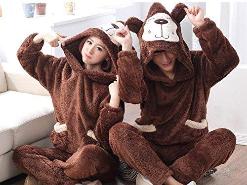 de manga larga pijama de estudiantes traje precioso gruesas hombres de invierno de terciopelo de coral