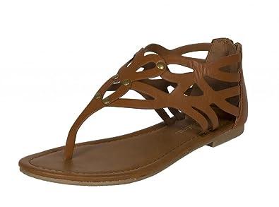 a212210379b City Classified Comfort Lustacious Women s Thong Cut Out Flat Sandal with  Back Zipper