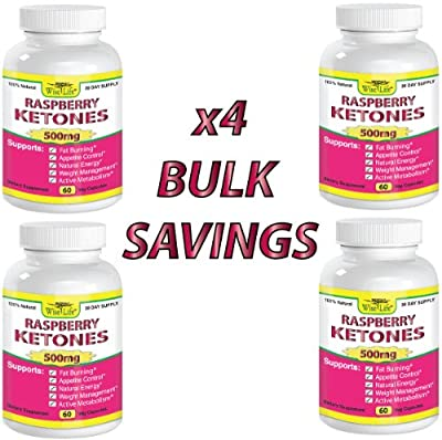 4x Raspberry Ketones Pure & Fresh 500mg Ketone Plus - 60 Vegetarian Caps, Fast Metabolism Diet Pills - Best Max Burn & Lose Fat Quickly Healthy Dieting Pills Proven for Rapid Weight Loss That Works Naturally Fast - Safely Simply Slim At Home with No Side