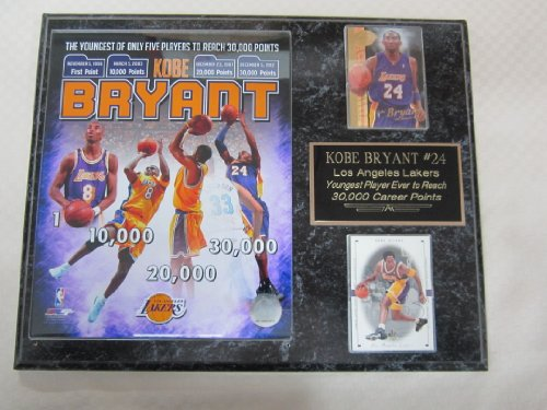 Kobe Bryant Los Angeles Lakers 2 Card Collector Plaque w/8x10 Commemorative Photo 30,000th Point