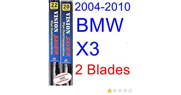 Amazon.com: 2004-2010 BMW X3 Replacement Wiper Blade Set/Kit (Set of 2 Blades) (Saver Automotive Products-Vision Saver) (2005,2006,2007,2008,2009): ...