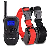 PetAZ Dog Training Collar,Electric Dog Shock Collars With Remote, Rechargeable and Rainproof Beep/Vibration/Shock For Small,Medium,Large Dogs,For 2 Dogs(10-120lbs) (For 2 Dog)