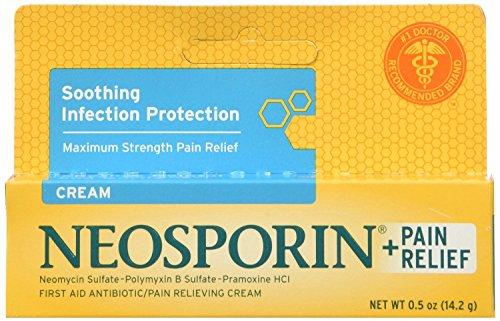 Neosporin Plus First Aid Antibiotic Pain Relieving Cream, 0.5 oz, 4 Count