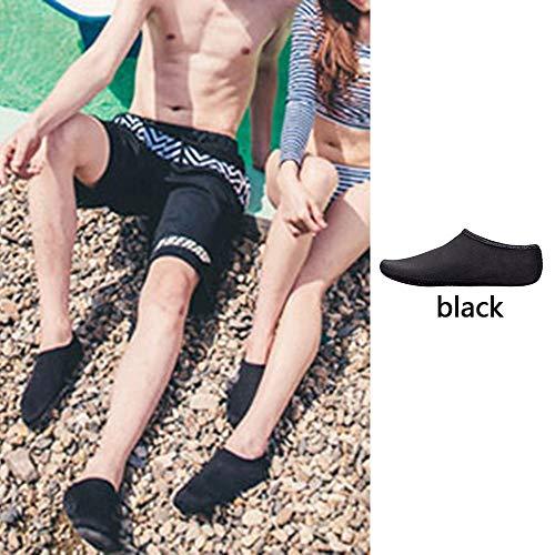 Chaussures Aquatiques pour de Piscine de Homme Chaussures de Yoga Chaussons Aquatiques Natation Sport Msliy Bain Plage Femme Plongée Noir dHqxgv87d
