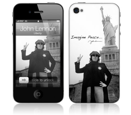 (Zing Revolution MS-JL20133 John Lennon - Liberty Cell Phone Cover Skin for iPhone 4/4S)