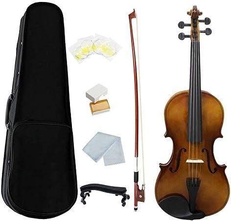 LOIKHGV Violines- Violín acústico de tamaño Completo 4/4 Pintura Brillante Vintage Violín Madera con Estuche de violín Arco Cuerdas de colofonia Hombro, como se Muestra: Amazon.es: Hogar
