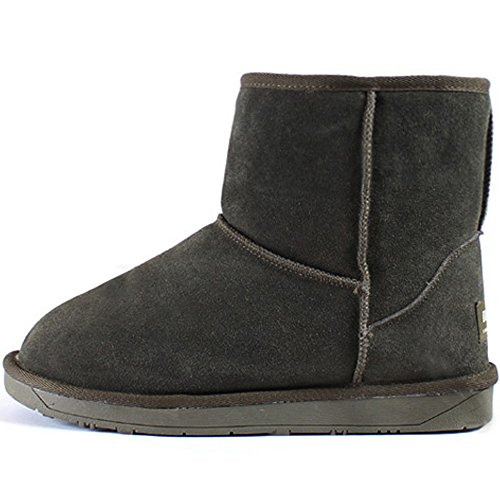 Leather Warm Shoes Boots Mooda Casual Womens New Winter Short Snow Khaki xqFtwnSYC