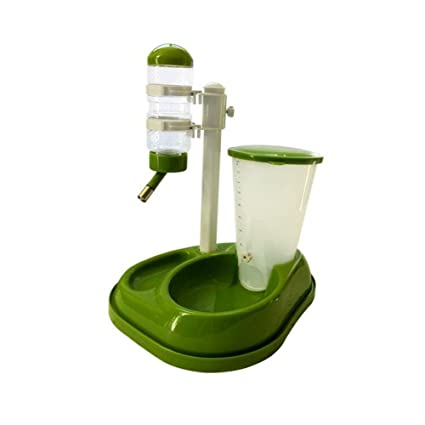 JL Alimentador Automático De Mascotas Mascotas Dispensador De Agua 2 En 1 Control De Porción De