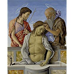 'Marco Zoppo The Dead Christ Supported By Saints ' Oil Painting, 12 X 15 Inch / 30 X 38 Cm ,printed On Polyster Canvas ,this Replica Art DecorativePrints On Canvas Is Perfectly Suitalbe For Basement Artwork And Home Decoration And Gifts