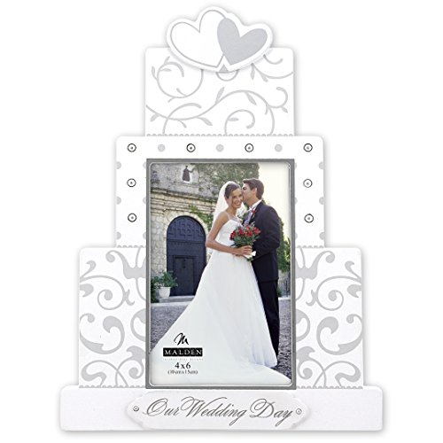 Malden International Designs Our Wedding Day Wedding Collection Picture Frame, 4x6, White