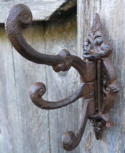 Cast Iron Vintage Antique Victorian Swing Arm Swivel Wall Ho