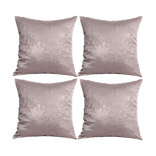 Price comparison product image JarlHome Pillowcases Heavy Weight Quality Cushion Covers Set Of 4 (khaki, 18184) JRK7001-3