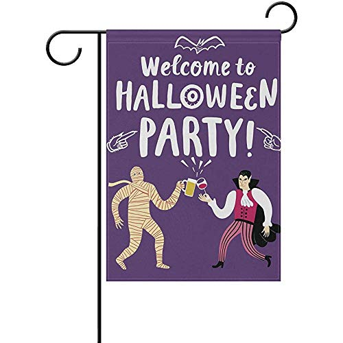 Andrea Back Double Sided Yard Garden Flag, Welcome Halloween Party Perfect for Indoor Outdoor Garden Yard Decoration (12