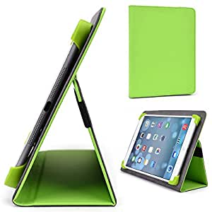 "Lime Green Kroo Flytouch 9 10.1"" Dual Core Case // Slim Folio Case with Built-in Stand"