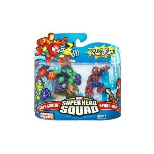 Spider Man Superhero Squad - Marvel Superhero Squad Series 14 Mini 3 Inch Figure 2-Pack Spider-Man and Green Goblin